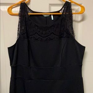 Black top lace slimming dress